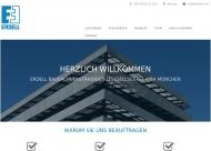 Bild Webseite Erdell Bausachverständigengesellschaft München