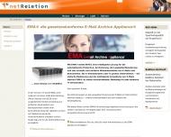 Bild Webseite netReLetion IT sales and integration Hamburg