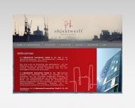Bild Webseite objektwerft Immobilien Hamburg