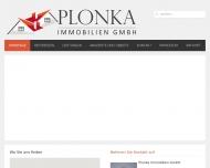 Bild Webseite Plonka Immobilien UG Duisburg