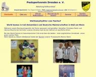 Bild Webseite Postsportverein Dresden Dresden