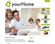 Bild Webseite yourHome Hamburg