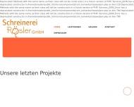 Bild Webseite Schreinerei Rösler Weidenberg