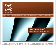 Bild Webseite Anoda Surface Hamburg