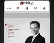 Bild Webseite Arena Direkt Nürnberg