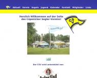 Bild Webseite Cöpenicker Segler-Verein Berlin