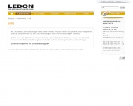 Website LEDON OLED Lighting Verwaltung