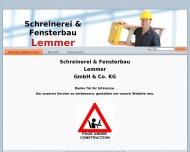 Website Schreinerei & Fensterbau Lemmer Verwaltungsgesellschaft