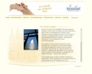 Website Senioren-Residenz Betriebs gesellschaft