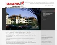 Bild Webseite SOLVENTA Immobilien Gesellschaft Wiesbaden