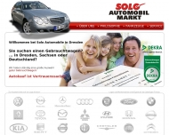 Bild Webseite SOLO Automobile Dresden