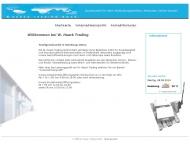 Bild Webseite W. Haack Trading Hamburg
