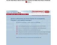 Bild Webseite Transdirekt Eurologistik Hamburg