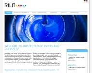 Bild Webseite Rilit Lackfabrik Endingen am Kaiserstuhl