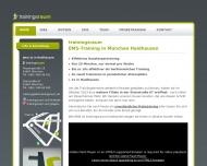 Bild Webseite Trainingsraum München