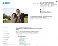 Bild Webseite Shire Orphan Therapies Berlin