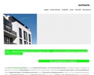 Bild Webseite antaris projektentwicklung Hamburg