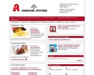 Bild Webseite Ansbacher-Apotheke Apothekerin: Traudl Vogel e.Kfr. Berlin