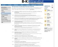 Bild Webseite Bittner & Krull Softwaresysteme München
