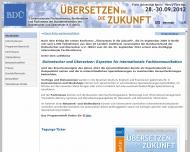 Bild Webseite BDÜ Weiterbildung  und Fachverlagsgesellschaft Berlin