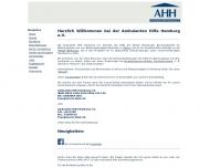 Bild Webseite Ambulante Hilfe Hamburg Hamburg