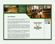 Website Wildpark Weissewarte