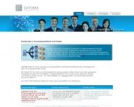 Bild Webseite CATOMA Beratungsgesellschaft Berlin