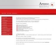 Bild Webseite APERSO Hamburg