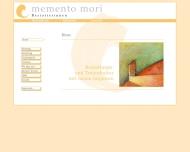 Bild Webseite memento mori Bestatterinnen Hamburg