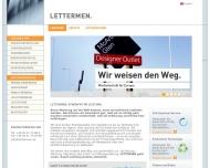 Bild Webseite Lettermen Berlin