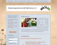 Bild Webseite Diakoniegemeinschaft Bethania Berlin