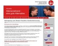 Bild Webseite Verband alleinerziehender Mütter und Väter Berlin