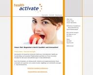 Bild Webseite health-activate24 Lübeck