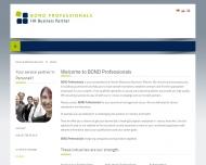 Bild Webseite Bond Professionals Hamburg