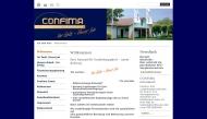 Bild Webseite CONFIMA Gesellschaft für Vorsorge & Kapitalmanagement Hamburg