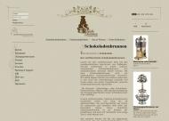 Bild Webseite Schokofontänen Zentrale Hamburg