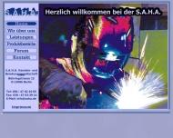 Bild Webseite S.A.H.A. Handels- und Beratungsgesellschaft Berlin