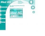 Bild Webseite M.E.D. MEDAG Hamburg