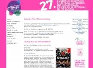 Bild Webseite Querbild-Verein zur Förderung der Lesben und Schwulen Filmkultur Hamburg