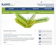 Bild Webseite Kath. Fachhochschule g Köln