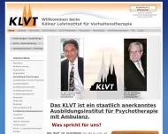 Bild Webseite KLVT - Lehrinstitut für Verhaltenstherapie Köln Köln