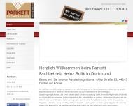 Bild Webseite Parkett Fachbetrieb Bolik Dortmund