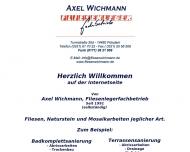Website Axel Wichmann Fliesenlegerfachbetrieb