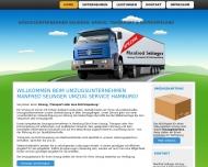 Bild Webseite MANFRED SELINGER UMZUEGE Hamburg