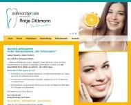 Bild Webseite Antje Dittmann - Zahnärztin Berlin