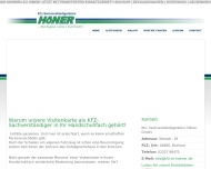 Website Kfz-Sachverständigenbüro Höner