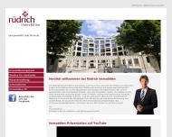 Bild Webseite Rüdrich Immobilien Berlin