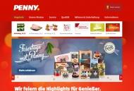 Bild Webseite Penny-Markt Frankfurt