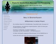 Website Ganzheitliche Massagen und Rebalancing
