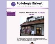 Website Podologie Birkert